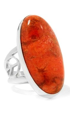 Orange - the color of a glorious sunrise or a captivating ocean coral! This beautiful Jay King ring adds a perfect punch of tropical flavor to all of your ensembles this season! What would you pair this ring with?