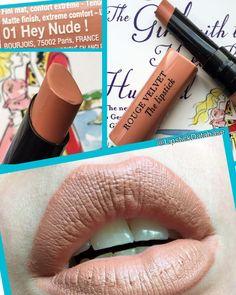 The Lipstick Database: Bourjois Rouge Velvet The Lipstick in 01 Hey Nude - full review at @LipstickDatabase on Instagram