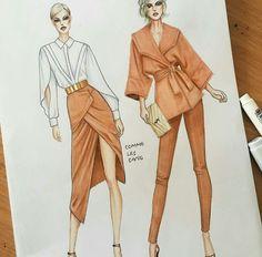Dress Design Drawing, Dress Design Sketches, Fashion Design Sketchbook, Fashion Design Drawings, Fashion Illustration Face, Fashion Illustration Tutorial, Fashion Drawing Tutorial, Fashion Model Sketch, Fashion Sketches