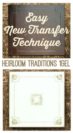 A fun and easy Transfer Method, using a new Transfer product! I love this stuff!  1Gel! #HeirloomTraditions #ad