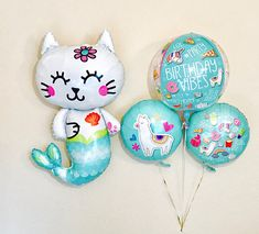 Birthday Vibes Tween Birthday OMG 13 Party Selfie Queen 3rd Birthday Parties, Birthday Cakes, Girl Birthday, Birthday Ideas, Mermaid Cat, Party Supply Store, Unicorns And Mermaids, Kitty Party, The Balloon