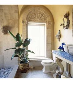 Roman styled bathroom designed by Nancy Anderson Ross, Dallas Design Group Interiors, and built by Sharif and Munir Custom Homes.