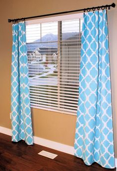 DIY- How to Stencil Curtains tutorial~ by sonia