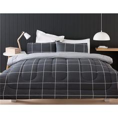 graphite comforter set double bed kmart