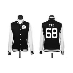 EXO TAO// I need this for two reasons Tao is like the best Exo is like my second favorite Kpop group Hoodie Jacket, Sweater Hoodie, Pullover, Jacket Men, K Pop, Got7, Style Preppy, Jackson, Flannel Fashion