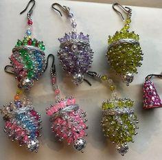Lot Of 6 Christmas Vintage Heavily Beaded Ornaments Hand Made Excellent BONUS    eBay
