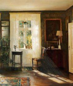 soyouthinkyoucansee:  interior oktoberlight; Carl Vilhelm Holsoe ( 1863 - 1935 )