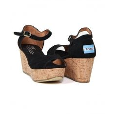 Platform Wedge, Womens Toms, Black Suede, Lust, Wedges, Shoes, Fashion, Moda, Zapatos