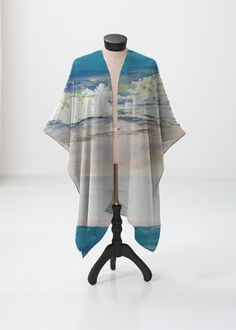 Sheer Wrap - Palms Sheer Wrap by VIDA VIDA Fs7APszlp