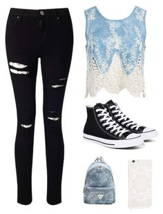 """Untitled #8"" by lakeishajean on Polyvore featuring beauty, Miss Selfridge, Sans Souci and Converse"