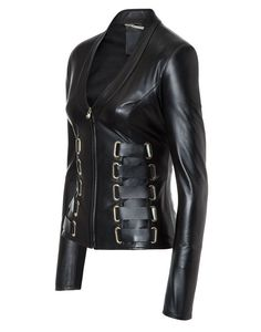 "Leather Jacket ""Kyanite"" 