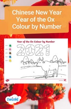 This fun and engaging Chinese New Year maths activity is great for supporting children to recognise numerals to 5. Children can look at the numbers hidden in the picture and use the key to help them work out which colour to use where, finishing with a colourful picture of an Ox! Click to download from the Twinkl website. #chinesenewyear #yearoftheox #cny #colourbynumbers #maths #mathsworksheets #teaching #teachingresources #twinkl #twinklresources #parents #homeschooling #homeeducation Free Teaching Resources, Eyfs, Chinese New Year, Ox, Colorful Pictures, Math Activities, Real People, Maths, Festivals
