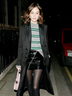 How to Wear Tights Out, According to Alexa Chung