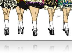 Irish Dance Jump ~ Original graphic art by Shelly Allen. Only 2 days left to buy one poster print and get another free! Choose from over 100 graphic art prints at my website! Deal ends Aug. 10th 2014 at midnight.