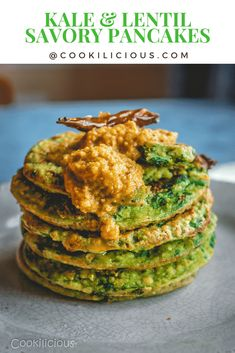 A South Indian adai/pancake made with kale, rice and lentils. Its thicker and crispier than the Dosa. Often served for breakfast or as a light tiffin snack. #Indian #lentils #breakfast #crepes #adai #protein #healthy #pancakes #howtomake #southIndian #kale #kaleadai #vegetarian #vegan Indian Food Recipes, Asian Recipes, Vegetarian Recipes, Healthy Recipes, Ethnic Recipes, Delicious Recipes, Vegetarian Appetizers, Kale Recipes, Vegetarian Options