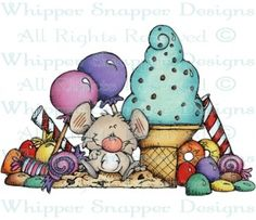 Mouse Sweets - Candy - Food/Beverages - Rubber Stamps - Shop