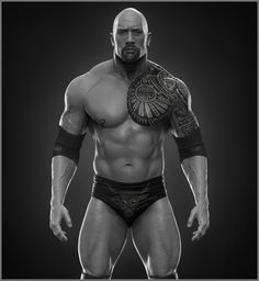 ArtStation - Dwayne The Rock Johnson done for WWE, Hossein Diba
