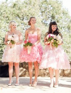 Pretty in pink Bridesmaids
