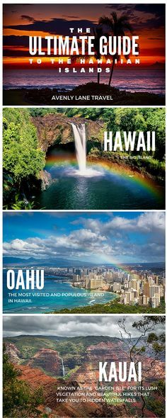 The Ultimate Guide to all of the Hawaiian Islands!- The Ultimate Guide to all of the Hawaiian Islands! Click through to Avenly Lane … The Ultimate Guide to all of the Hawaiian Islands! Click through to Avenly Lane Travel to read more! Vacation Places, Vacation Destinations, Vacation Trips, Dream Vacations, Vacation Spots, Places To Travel, Places To Visit, Honeymoon Places, Kaui Vacation