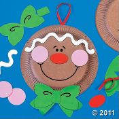 gingerbread paperplate craft