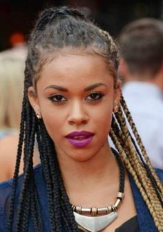 Melissa Steel box braids hairstyle