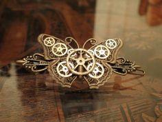 steampunk butterfly barrette