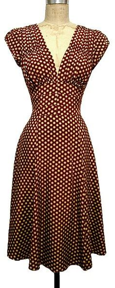 I love this dress. 1940s