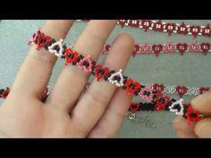 Beading Patterns Free, Beaded Jewelry Patterns, Beading Tutorials, Diy Crafts Jewelry, Bead Crafts, Wire Jewelry Making, Bead Loom Bracelets, Bead Jewellery, Loom Beading