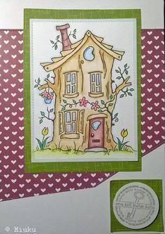 New home card. / Onnea uuteen kotiin kortti. Advent Calendar, Stamp, Holiday Decor, Cards, Handmade, Home Decor, Hand Made, Decoration Home, Room Decor