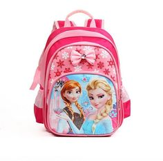 Princess Elsa Anna Waterproof Printing School Backpack Orthopedic Schoolbag