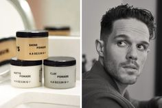Rudy's Pomade Collection - Now introducing a line of modern pomades to style unruly manes and help you find the right match for your hair. Male Grooming, Mens Essentials, Geek Stuff, Mens Fashion, Collection, Modern, Style, Geek Things, Moda Masculina