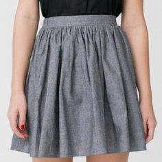 American Apparel Gray Skater Skirt . American Apparel Skirts Circle & Skater