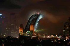 Mist over Sydney Harbour Bridge, Australia