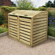 DIY trash can shed - Google Search
