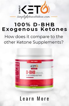 Ever wonder what's different between D-BHB, L-BHB, and the Blend of both(Racemic Blend)? Click the link to Learn More! Ketone Supplement, Ketone Bodies, Keto Flu, Fruit Punch, Natural Energy, High Energy, Amino Acids, Just Do It, Ketogenic Diet
