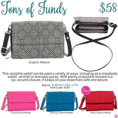 Tons of Funds by Thirty-One. Fall/Winter 2016. Click to order. Join my VIP Facebook Page at https://www.facebook.com/groups/erica31/