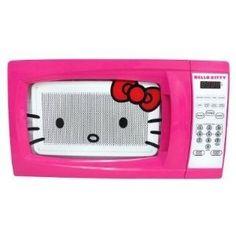 Hello Kitty 0.7 Cubic Feet 700 Watt Microwave danellehmz