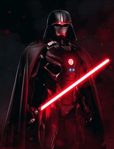ArtStation - Darth Vader x Iron Man, Aiko Aiham Star Wars Characters Pictures, Images Star Wars, Star Wars Pictures, Jedi Sith, Sith Lord, Star Wars Concept Art, Star Wars Fan Art, Darth Vader Artwork, Cuadros Star Wars