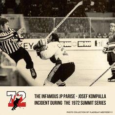 Инцидент в восьмом матче Суперсерии 1972 Канада - СССР: канадский форвард Жан-Поль Паризе атакует немецкого судью матча Йозефа Компаллу. #тафгай #суперсерия1972 #хоккей #сборнаясссрпохоккею #сборнаяканады #случай #icehockey #summitseries1972 #canadateam #toughguy #canada #судья #рефери