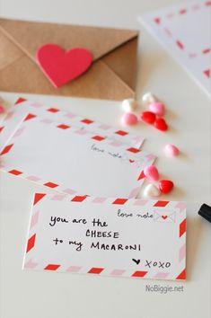Valentine's Day free printable NoBiggie.net