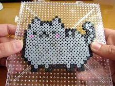 Pusheen el Gato con Hama Beads - YouTube