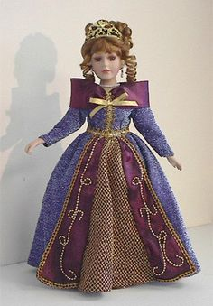 Porcelain Doll with Tiara Crown Queen Limoges China, Tiaras And Crowns, Doll Furniture, Doll Clothes, Snow White, Best Gifts, Porcelain Doll, Queen, Dolls