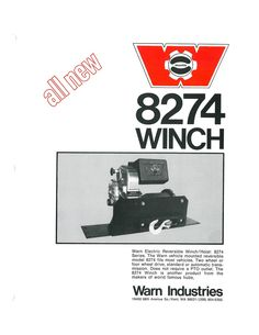 A vintage ad for the WARN 8274 winch from about 1974.