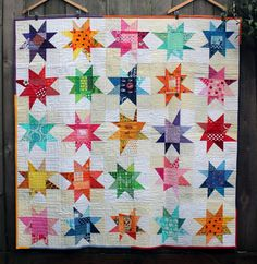 Wonky Star Quilt   Wombat Quilts