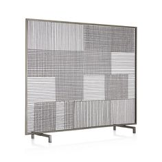 Ansel Plaid Fireplace Screen in Fireplace Accessories | Crate and Barrel