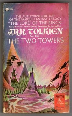 I'm lucky enough to have found a set with these covers at a used book sale. They're so trippy and colorful, I love them. #tolkien #lotr #bookcovers
