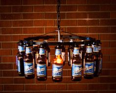 20 Bright Ideas DIY Wine & Beer Bottle Chandeliers - Big DIY Ideas