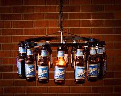 20 Bright Ideas DIY Wine & Beer Bottle Chandeliers - Big DIY Ideas