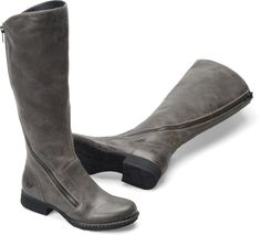 Still searching for a pair of gray knee high boots Born Laurette in  Peltro Suede  Born Womens Boots