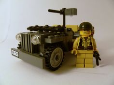 US soldier and jeep #lego
